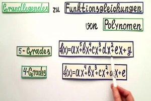 Funktionsgleichung aufstellen - so gelingt es für ein Polynom