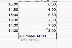 Stundenrechner mit Excel erstellen