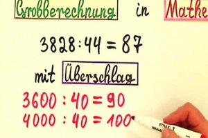 Mathe - einen Überschlag berechnen Sie so