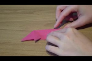 Origami  - für Silvester ein Glücksschwein falten