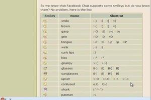 Facebook Smileys als Zeichen eingeben - so geht's
