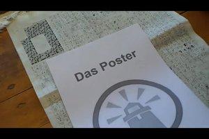 Poster aufziehen leicht gemacht