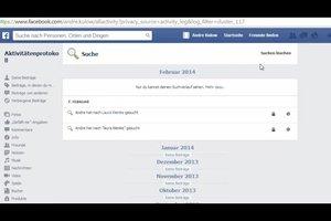 Bei Facebook den Suchverlauf löschen