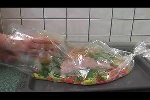 Kassler im Bratschlauch zubereiten - leckere Rezeptideen mit Gemüse