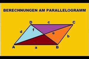 Parallelogramm: Diagonale berechnen - so geht's