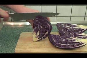 Ein Rezept - Rotkohl frisch zubereitet