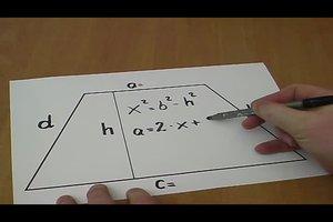 Trapez - Seiten berechnen