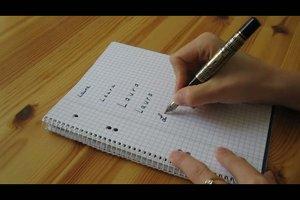 Handschrift verbessern - einfache Übungen