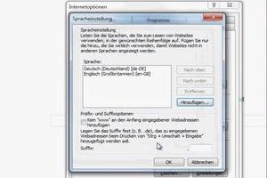 Internet Explorer 8: Sprache ändern - so geht's
