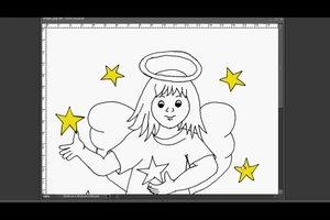 An Weihnachten Engel-Bilder selber malen