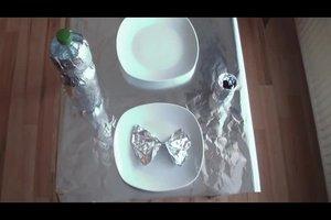 Geburtstagsdeko selber basteln - so geht's mit Alufolie