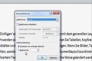 Seitenzahl bei Word 2010 formatieren - so geht's
