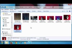Wo und wie speichert Skype Schnappschüsse unter Windows 7?