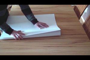 DIN A1 falten - so geht es fachgerecht auf DIN A4-Größe