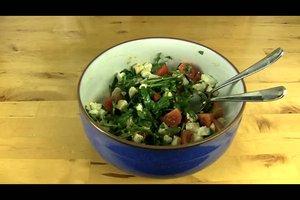 Rucolasalat mit Schafskäse und Tomaten - ein Rezept