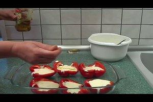 Gefüllte Paprika im Ofen - ein vegetarisches Rezept