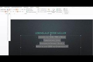 PowerPoint - eine Bewerbung als Präsentation gestalten klappt so