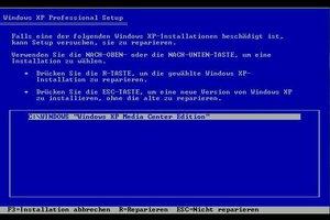 Wie installiere ich Windows XP neu?