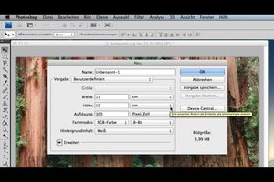 Foto-Maße - Standard-Format von 10x15 mit PhotoShop einstellen