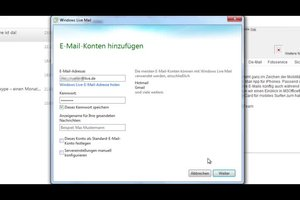 Windows Live Mail - das Abrufen der Mails gelingt so
