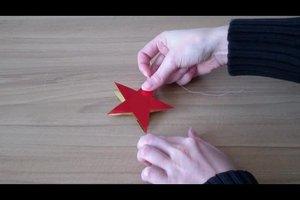 Basteln zu Weihnachten - so gelingen einfache Sterne