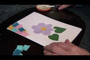 Zum Vatertag basteln im Kindergarten - Ideen mit Tonpapier