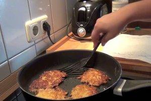 Kartoffelpuffer mit Beilage - ein Rezept