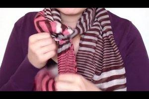 Einen Schal knoten - Anleitung