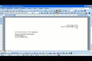 Briefkopf erstellen - so funktioniert´s mit Office Word