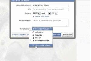 Bei Facebook-Fotos Kommentare sperren - so deaktivieren Sie die Kommentarfunktion