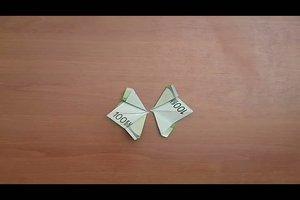 Geldscheine falten - Anleitung für einen Schmetterling