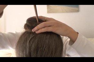 Einfache Hochsteckfrisuren mit Anleitung - so geht`s mit Haarstäben