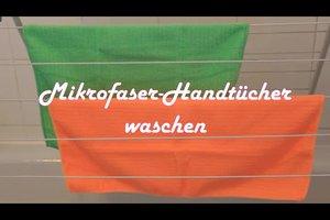 Mikrofaser-Handtücher richtig waschen